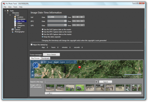 microsoft pro photo tools: geotagging and metadata editing