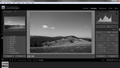 Black and white photography in Adobe Lightroom