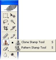 Adobe Photoshop toolbar