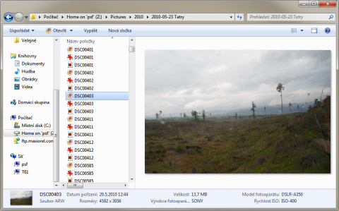 RAW preview within Windows Explorer